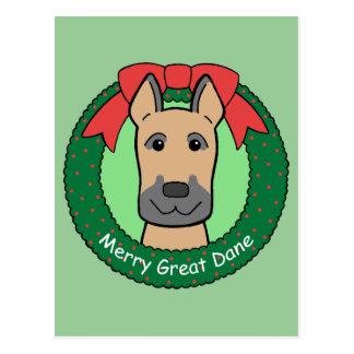Navidad de great dane postales