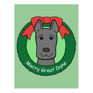 Navidad de great dane tarjetas postales