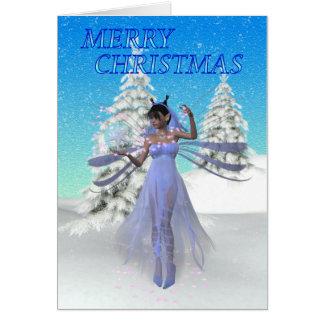Navidad de hadas tarjeta de felicitación