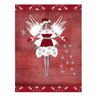 Navidad de hadas tarjetas postales
