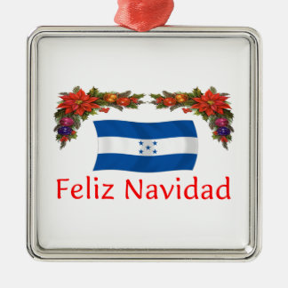 Navidad de Honduras Adorno Navideño Cuadrado De Metal