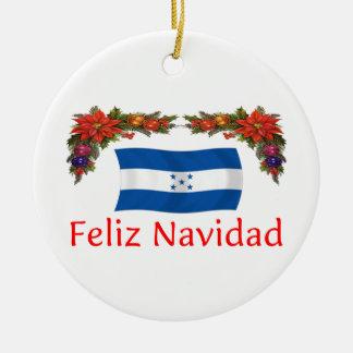 Navidad de Honduras Adorno Navideño Redondo De Cerámica