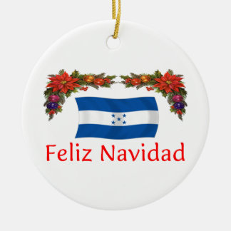 Navidad de Honduras Adorno Redondo De Cerámica