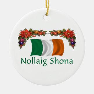 Navidad de Irlanda Adorno Redondo De Cerámica