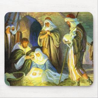 Navidad de Jesús Mousepad del pesebre Tapete De Ratones