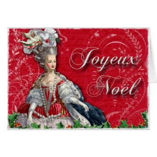 Navidad de Joyeux Noel Marie Antonieta Tarjeton