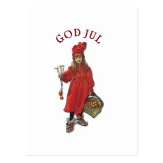 Navidad de julio de dios de Carl Larsson Brita que Tarjetas Postales