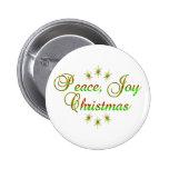 Navidad de la alegría de la paz pin