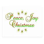 Navidad de la alegría de la paz postal