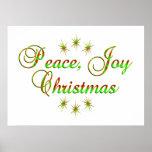 Navidad de la alegría de la paz posters