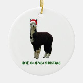 Navidad de la alpaca adorno de navidad