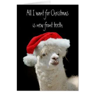 Navidad de la alpaca felicitacion