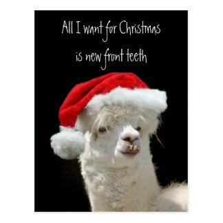 Navidad de la alpaca postal