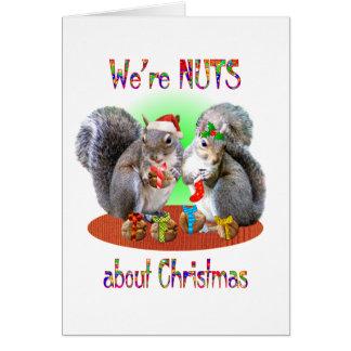 Navidad de la ardilla Nuts Tarjeta De Felicitación