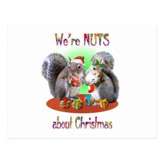 Navidad de la ardilla Nuts Tarjeta Postal