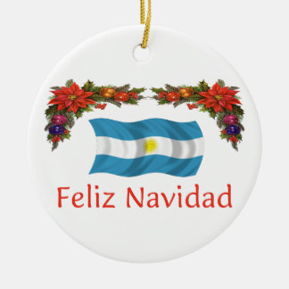 Navidad de la Argentina Adorno Navideño Redondo De Cerámica