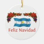 Navidad de la Argentina Adorno Redondo De Cerámica