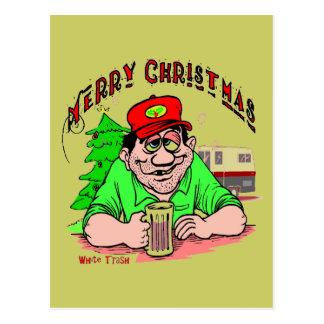Navidad de la basura blanca postal