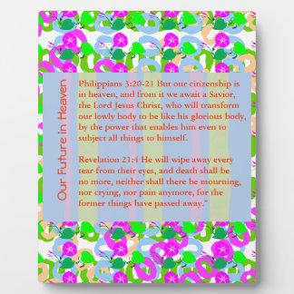 Navidad de la BIBLIA de la CITA de la SABIDURÍA, C Placas De Plastico