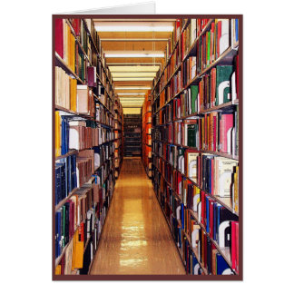 Navidad de la biblioteca tarjetón