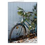 Navidad de la bicicleta del invierno felicitación