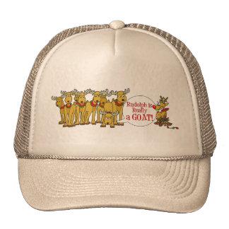 Navidad de la cabra gorras de camionero