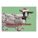 Navidad de la cabra tarjeta de felicitación