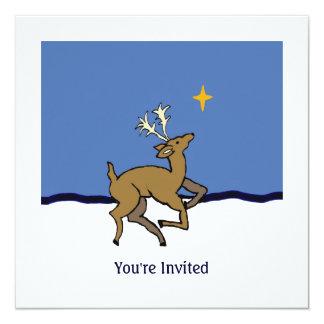 """navidad de la casa abierta invitación 5.25"""" x 5.25"""""""
