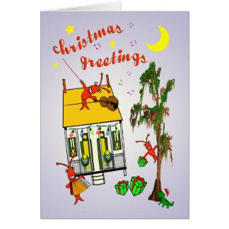 Navidad de la casa del pantano de Cajun Tarjeta De Felicitación
