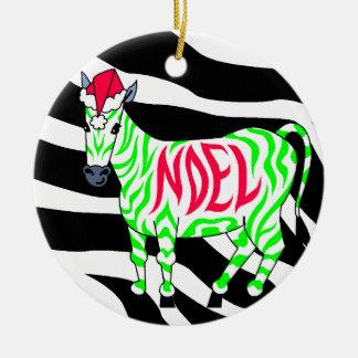 Navidad de la cebra de Noel Ornamentos De Navidad