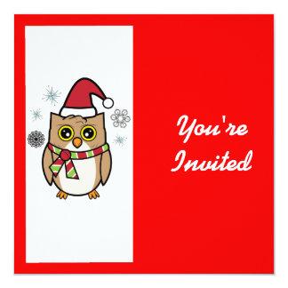 Navidad de la celebración de días festivos con el invitación 13,3 cm x 13,3cm