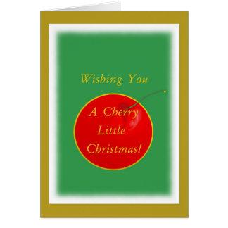 ¡Navidad de la cereza Humor Felicitaciones