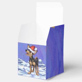 Navidad de la chihuahua cajas para regalos de fiestas