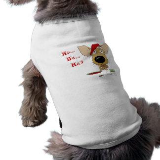 Navidad de la chihuahua camisa de mascota