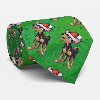 Navidad de la chihuahua en verde corbatas
