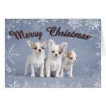 Navidad de la chihuahua tarjeta de felicitación
