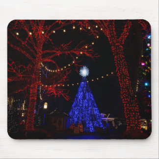 Navidad de la ciudad del dólar de plata mousepads