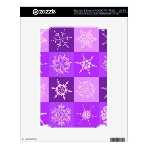 Navidad de la colección del copo de nieve del Wint Calcomanía Para NOOK