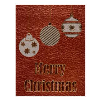 Navidad de la Cuero-Mirada rojo Tarjetas Postales
