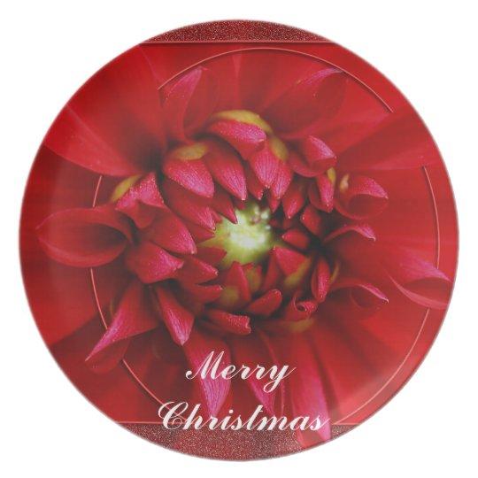 Navidad de la dalia platos para fiestas