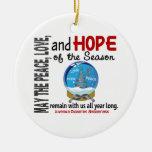 Navidad de la diabetes juvenil 3 ornamentos del gl ornaments para arbol de navidad