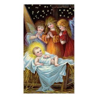 """""""Navidad de la escena de la natividad"""" Tarjetas De Visita"""