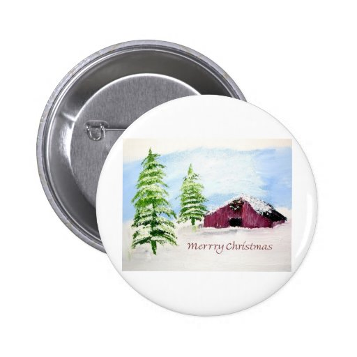 Navidad de la escena del granero pin