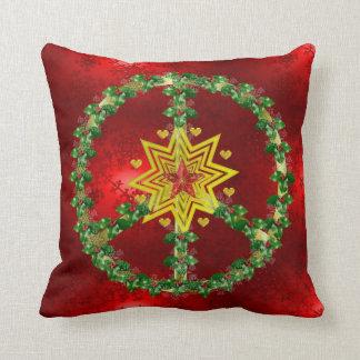 Navidad de la estrella de la paz almohada