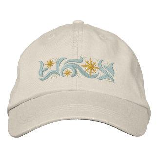 Navidad de la estrella del oro gorras de béisbol bordadas