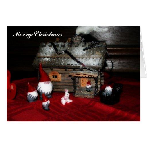 Navidad de la familia de Santa Tarjeta De Felicitación