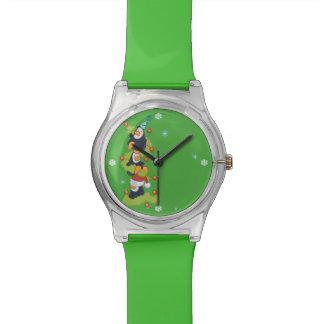 Navidad de la familia del pingüino relojes de pulsera