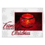 Navidad de la familia felicitacion