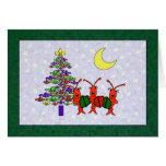 Navidad de la flor de lis de los cangrejos de tarjeta de felicitación