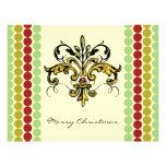 Navidad de la flor de lis tarjeta publicitaria